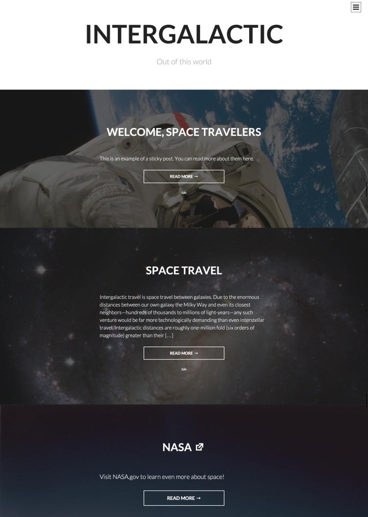 Intergalactic Theme